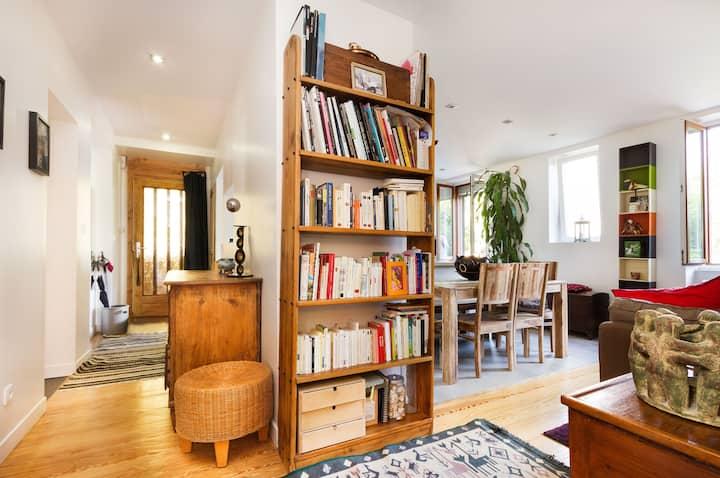 Appartement 100 m² + jardin privé