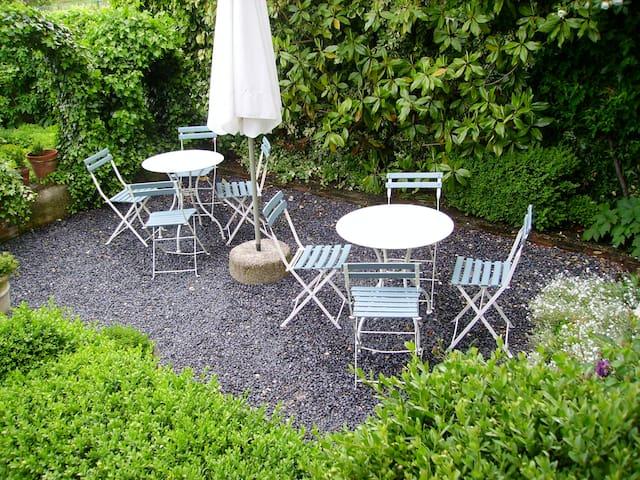 Garden Patio for breakfast or Champagne aperitif