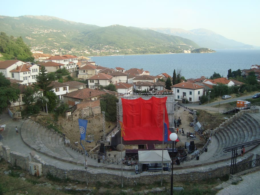 View to  the Ancient Theatre from the balcony.