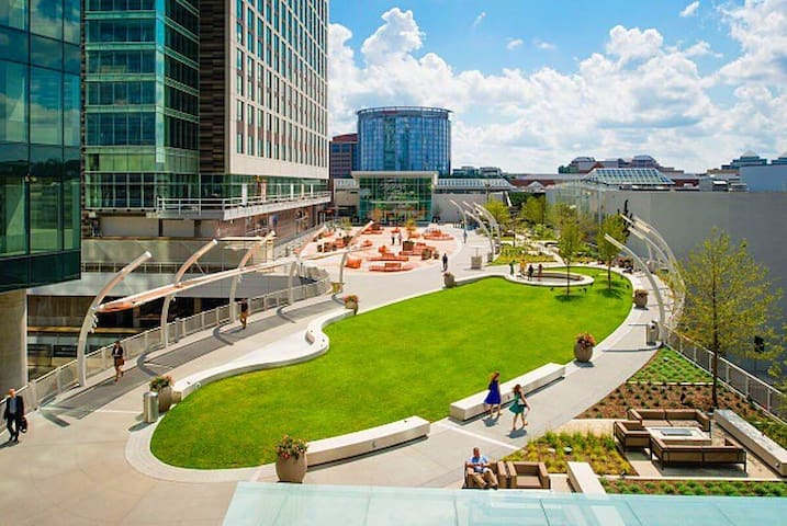 Luxury Apartment Overlooking Plaza and Tysons Mall