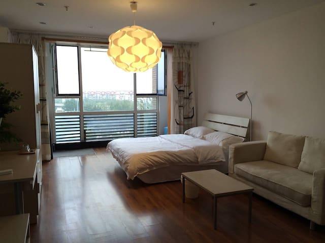 地铁旁的北欧风阳光公寓 交通便捷(七层) - Tianjin - Apartment