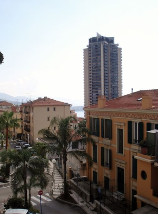 le paysage en face テラスから見えるモナコの海の景色