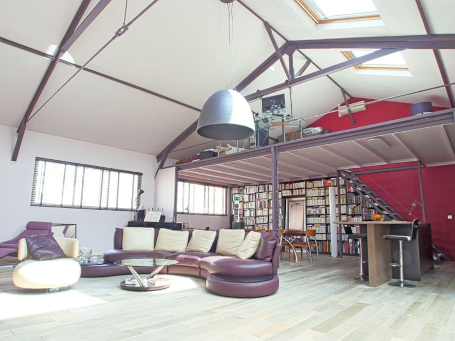 Loft design cosy r ception lofts louer paris le de france fr - Achat loft ile de france ...