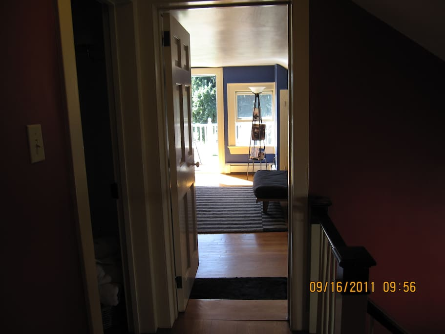 Entrance to large bedroom on 2nd floor over kitchen