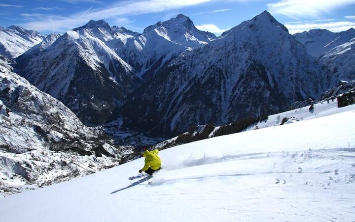 Zone piétonne, vacances ski aux pieds aux 2Alpes