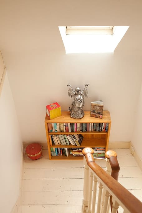 Stairway to bedroom (picture must be updated - now has lots of board games too - feel free to play!)