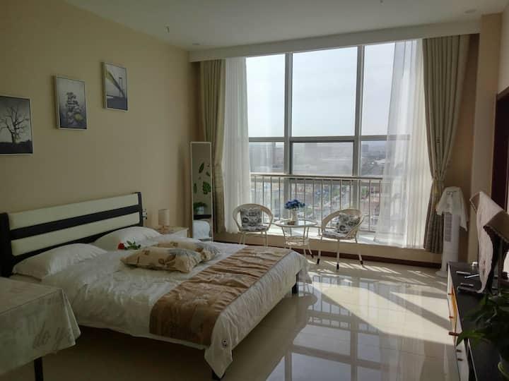 草原明珠锡林浩特市中心维多利大厦高层观景公寓摩尔温馨小屋