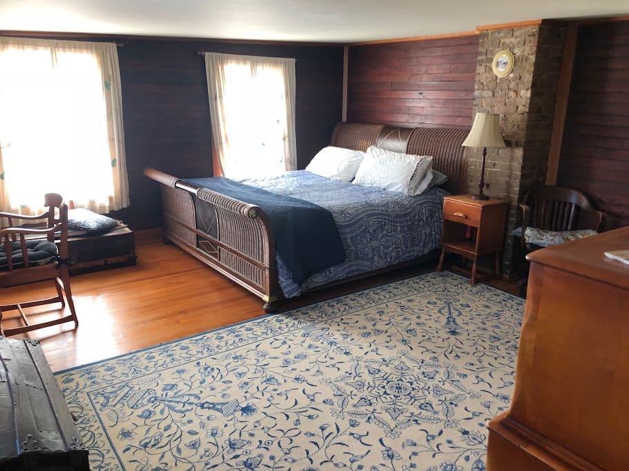 Cozy Log Cabin Bedroom