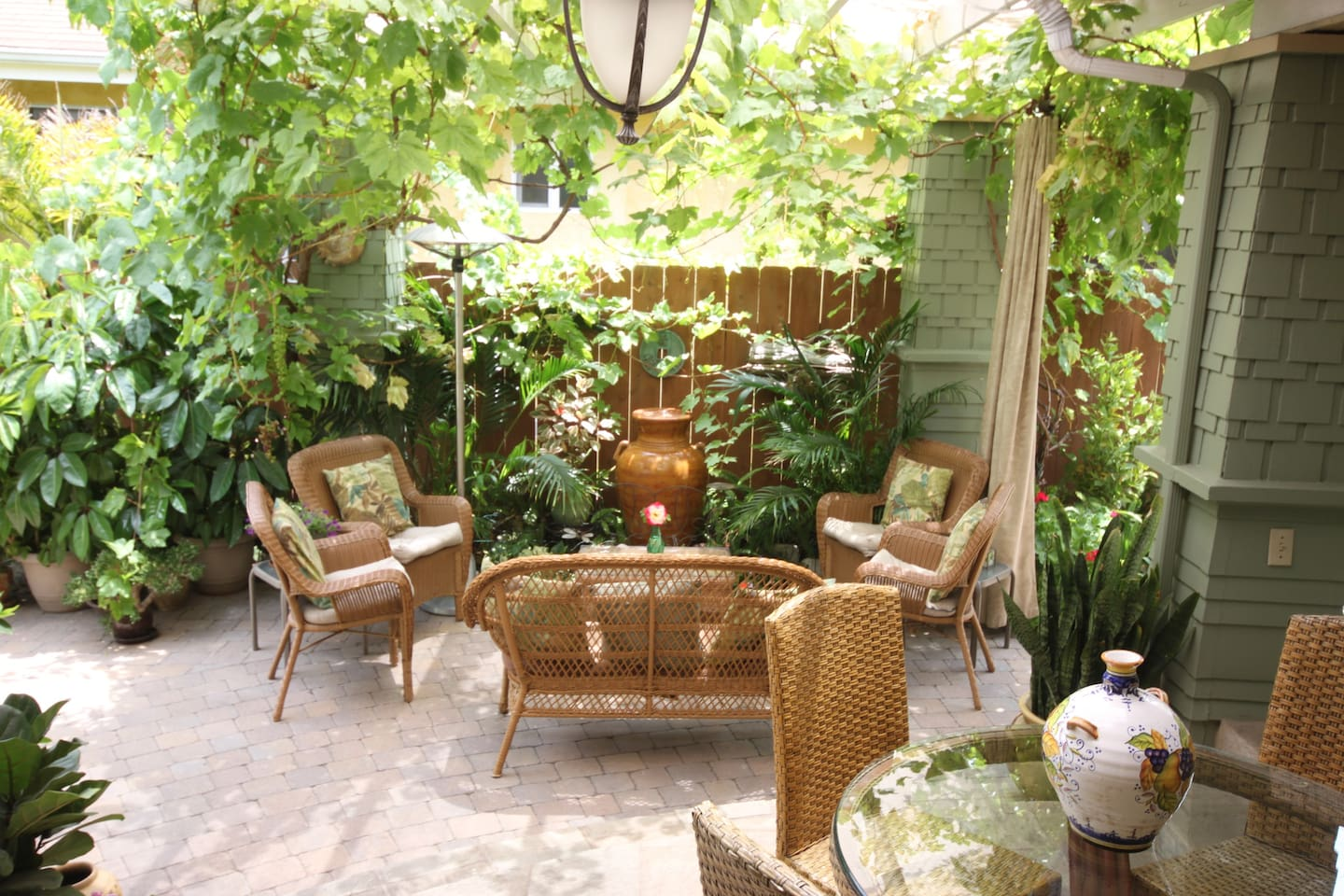 Beautiful shared outdoor living and dining area