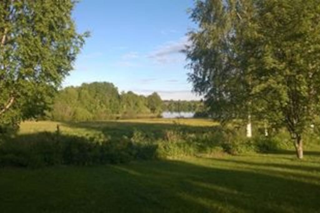 Summertime view from the garden to the Kemi river.
