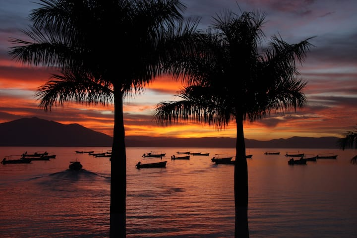Sunset at Chapala Lake