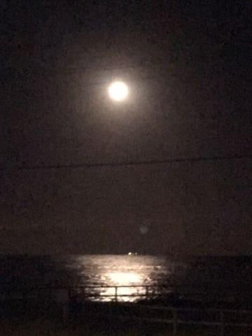 Verandah view of Moonlit sea