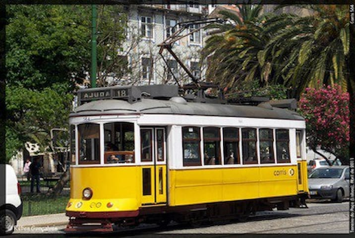 Famous Tram nº18 (Takes you from the house to the beautiful city)