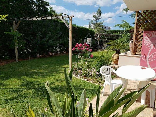 modern sunny flat and happy garden - Palea Fokea - House