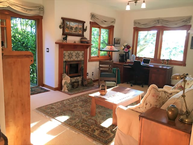 Sunlit studio in the Berkeley Hills