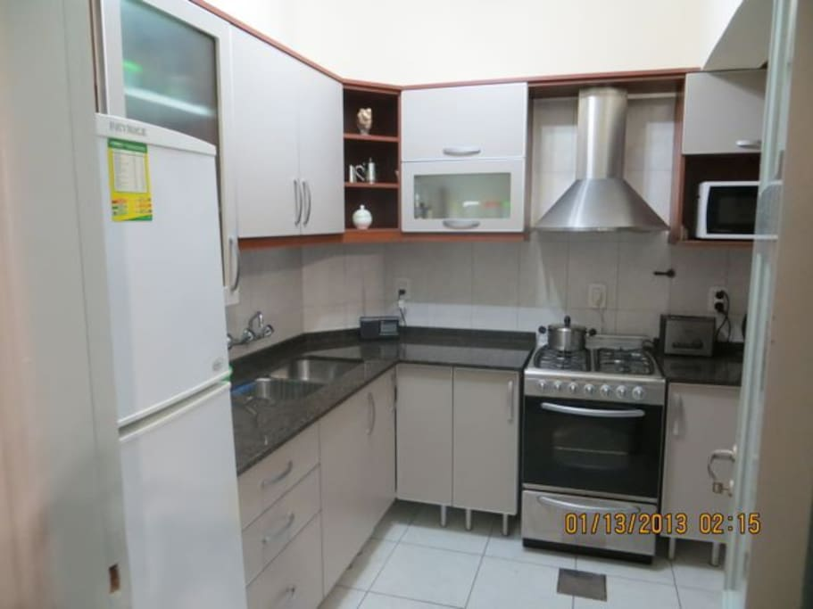 Brand new stainless steel kitchen, gas, fully equiped.