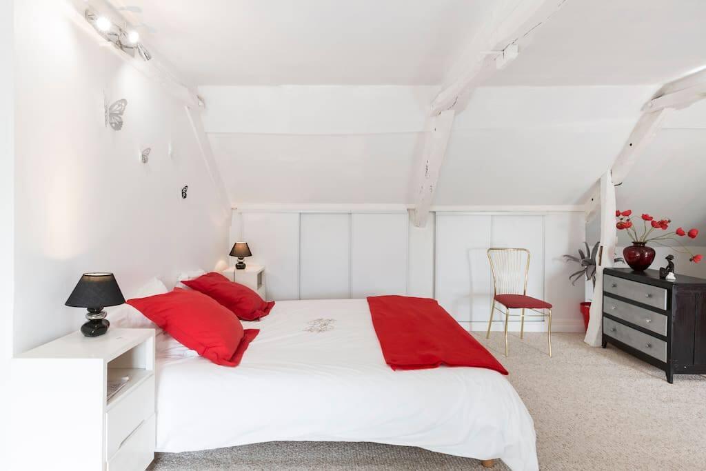 la chambre blanche 1 lit double