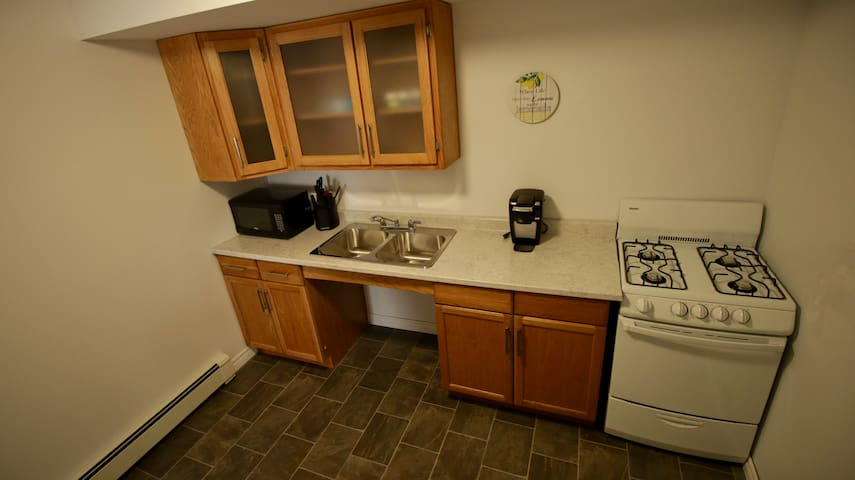 Kitchen with accessible sink