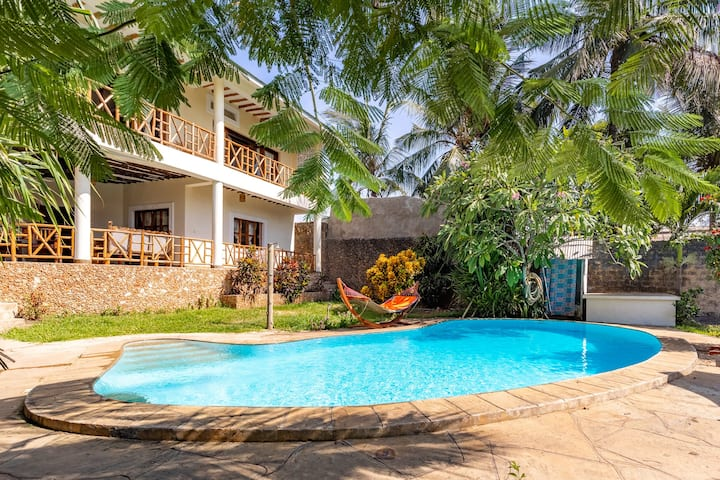 Galu Beach Villa with Swimming Pool