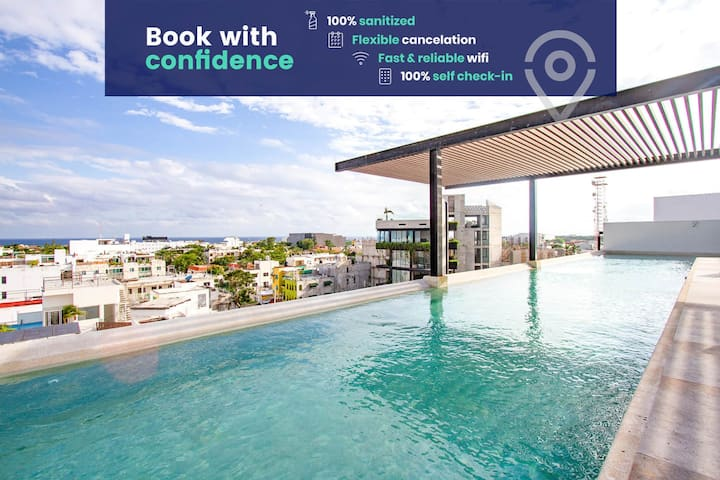 Condo w/Rooftop Pool ✰ Downtown Playa + Near Beach