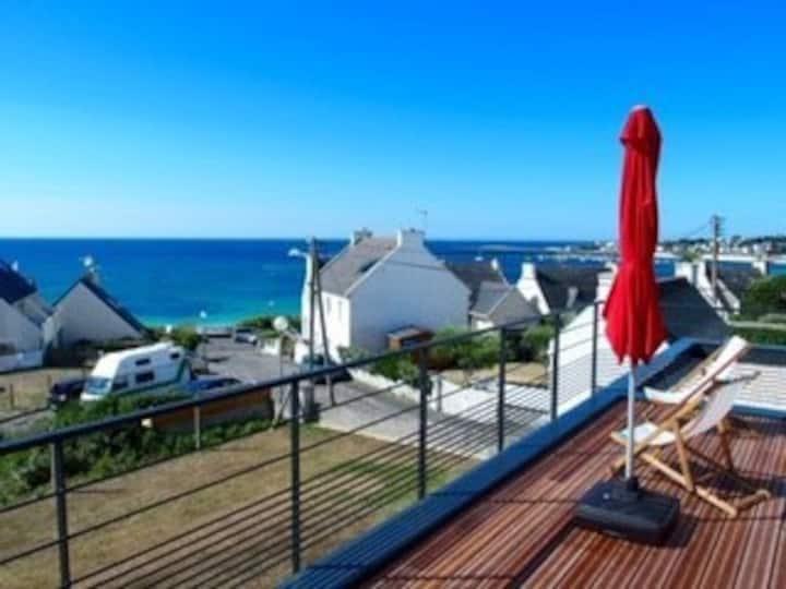 Appartement très proche plage et vue sur mer.