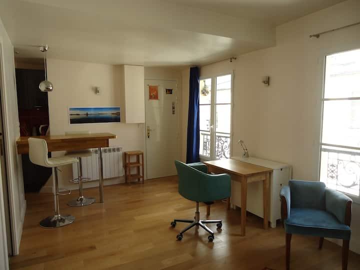 Studio cosy, clair, calme, 23m2