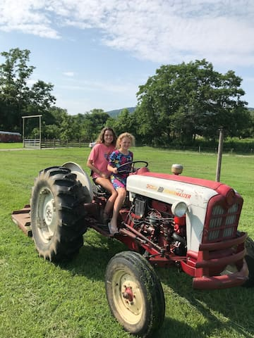 Learn to drive a tractor...but look out we might turn the mower on and put you to work :)