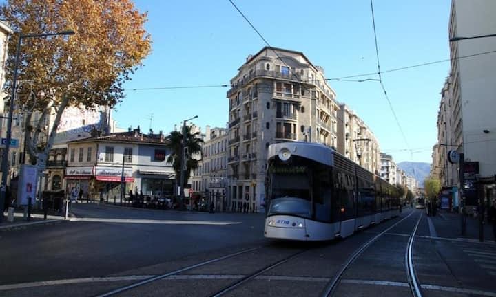 Entre la gare st Charles et le parc Longchamp