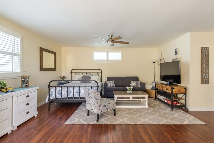 Bright, Cozy, Open studio with GREAT access to SD