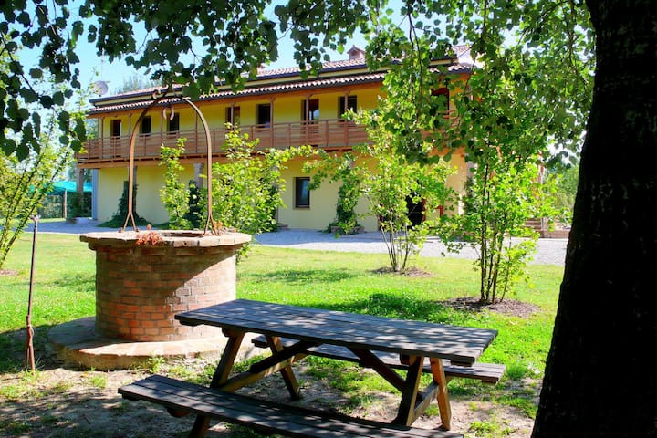 Nice farmhouse between two small lakes, nearby Ferrara and the Adriatic Coast
