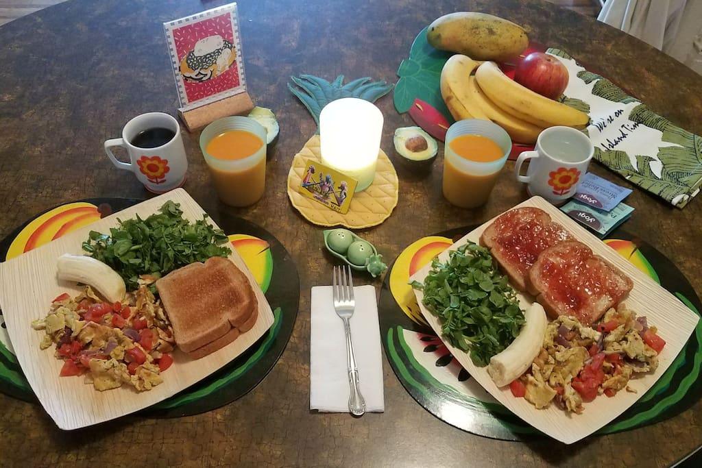we offer breakfast reservations!