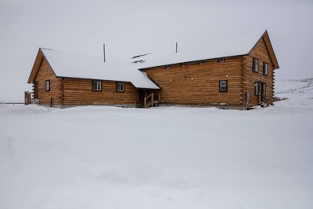 The lodge under a blanket of snow