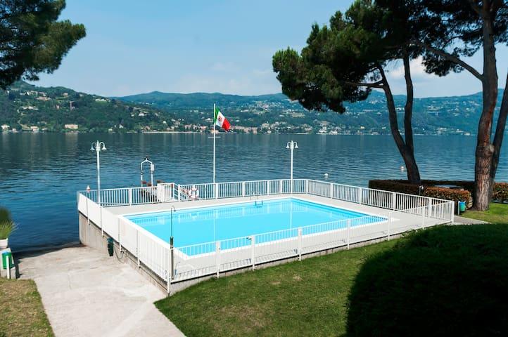 Appartamento sul lago con piscina - Fornetto-vigane