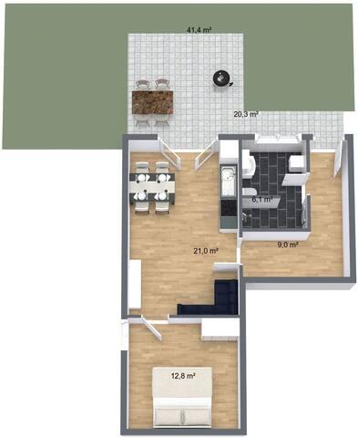 Grundriss. Wohnung derzeit im Ausbau. Weitere Bilder folgen.