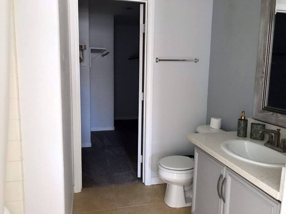 Downstairs restroom and closet