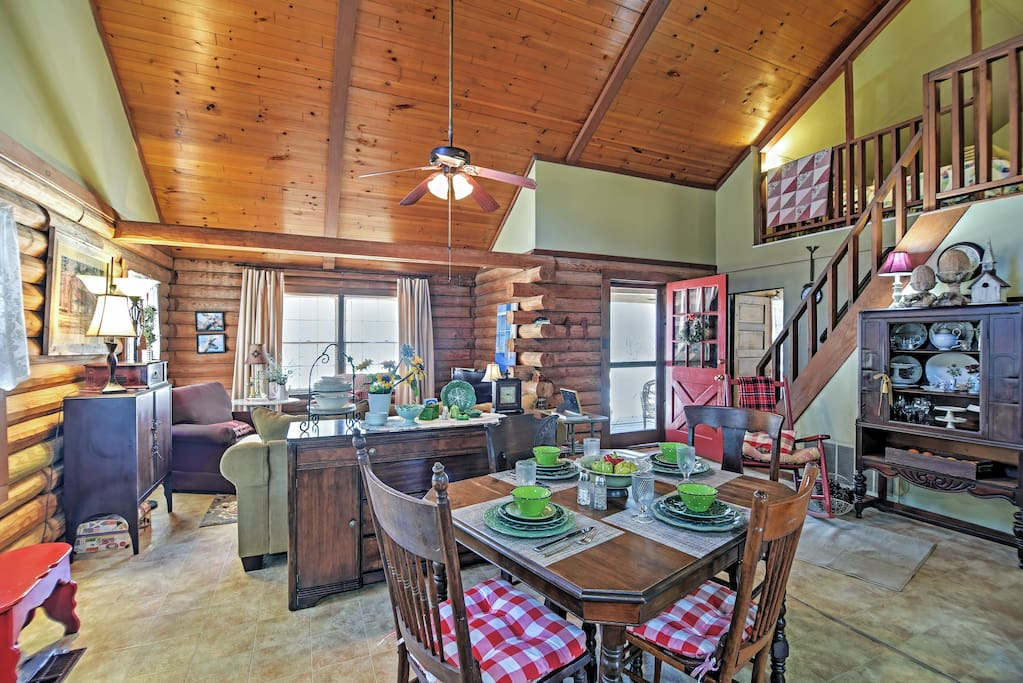 You'll find the cozy interior to be tastefully decorated.