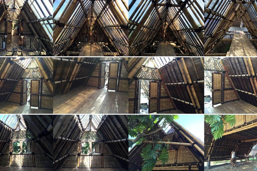 Rumah Bambu Nusantara tampak dari dalam