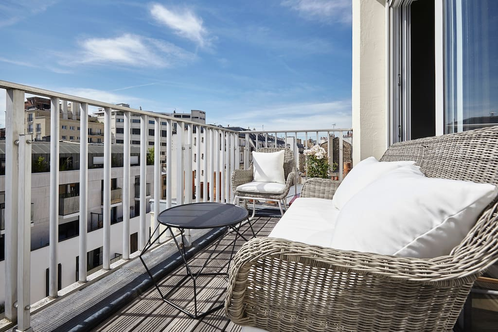 Magnifique appartement avec terrasse 17 me appartements for Appartement paris avec terrasse