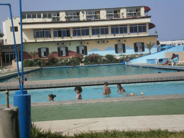 local swimming pool at Mehdya Plage one Olympic size & one kiddy pool