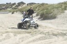 Quad riding on the sand dunes of Mehdya and sidi Boughaba beaches