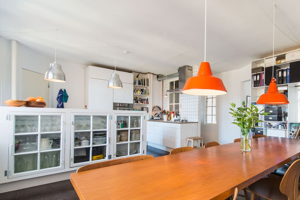 Dinning area with open kitchen