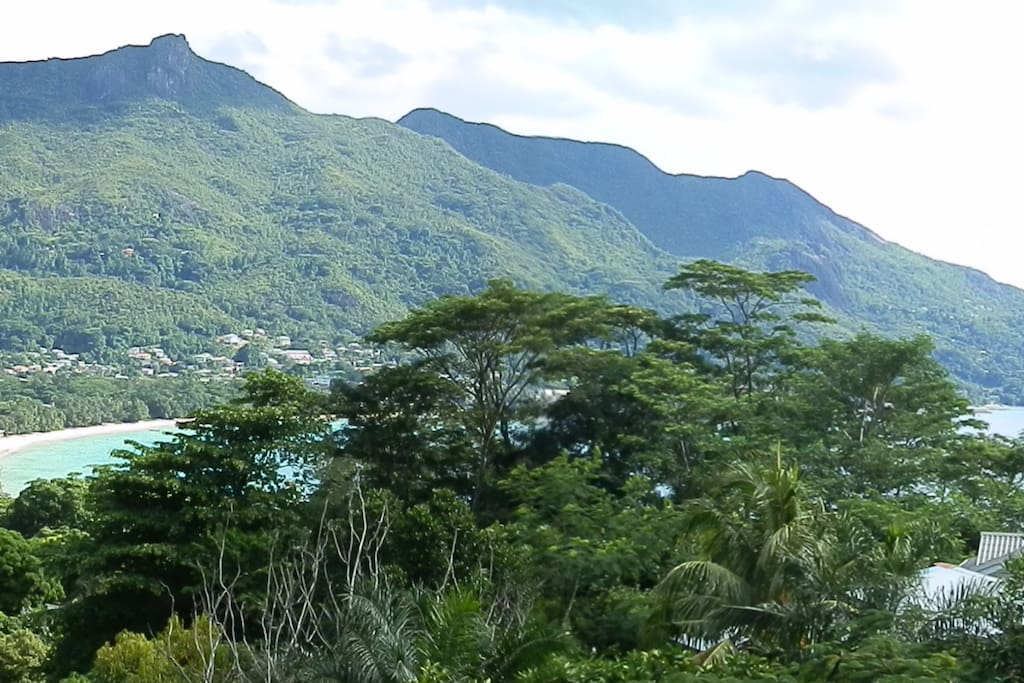 Amazing View of Beau-Vallon Beach and Bel Ombre as well as the majestic Mountains