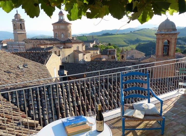 The breath-taking terrace in Offida