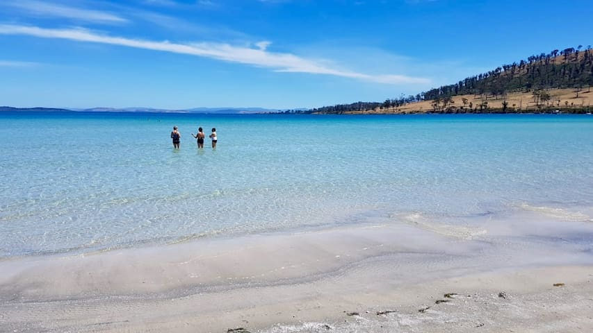 2 minutes walk to Connellys Beach - a shallow-watered beach of pure white sands.