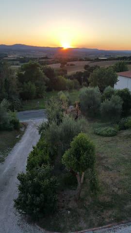 la vista su Montepulciano