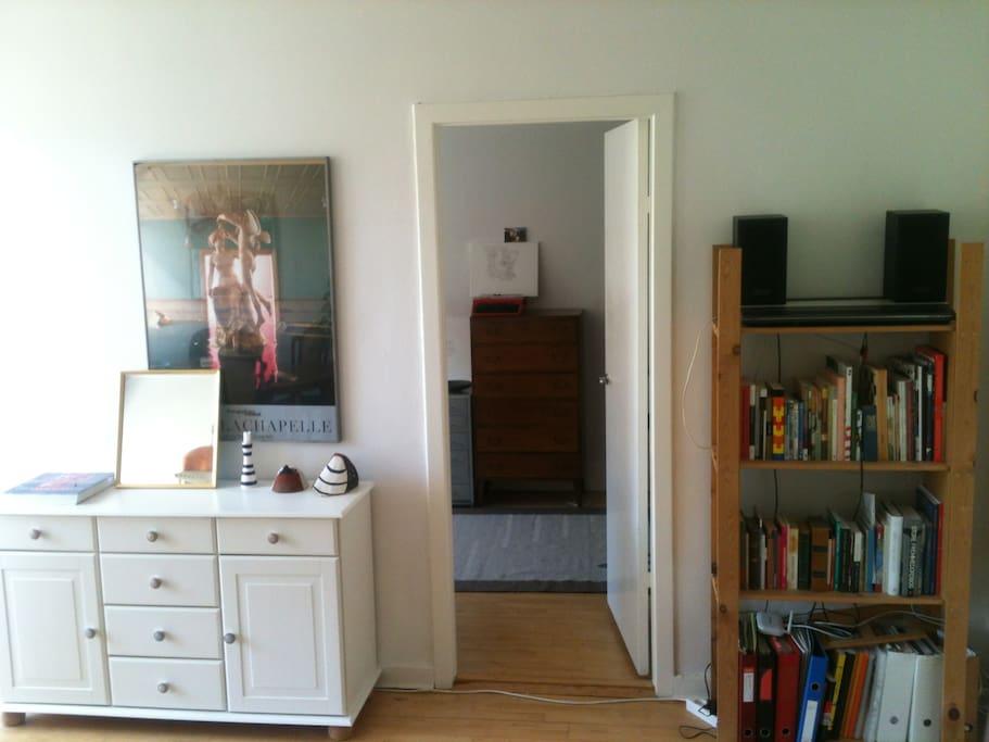 doorway to the bedroom