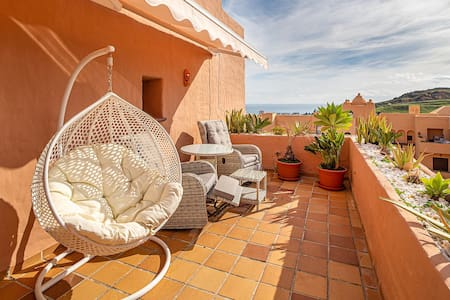"""Beautiful Holiday Apartment """"Manilva"""" with Sea View, Wi-Fi, Terrace & Pool; Parking Available"""