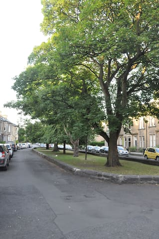 Located on a beautiful leafy street with free car parking