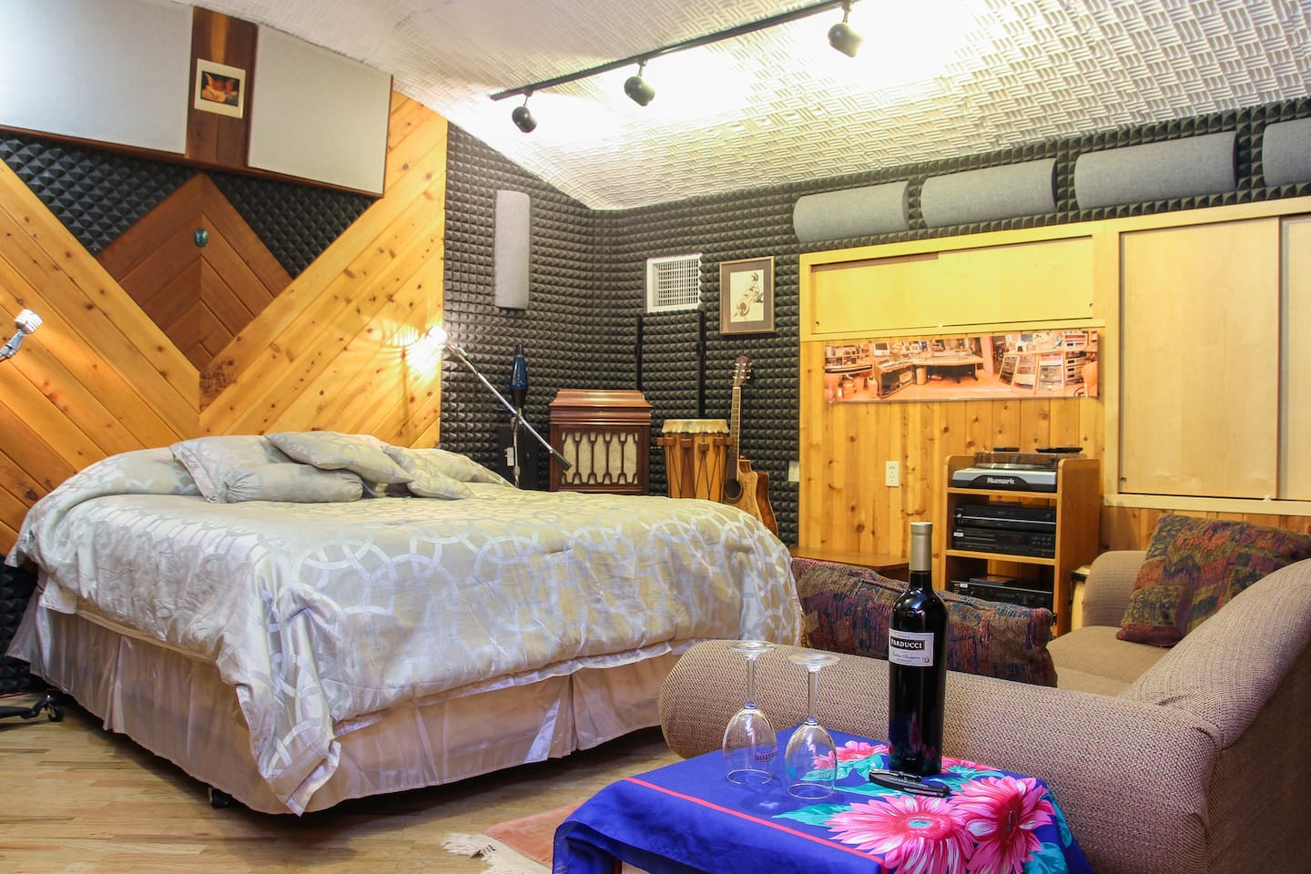 Soundproof Control Room with CA King Bed