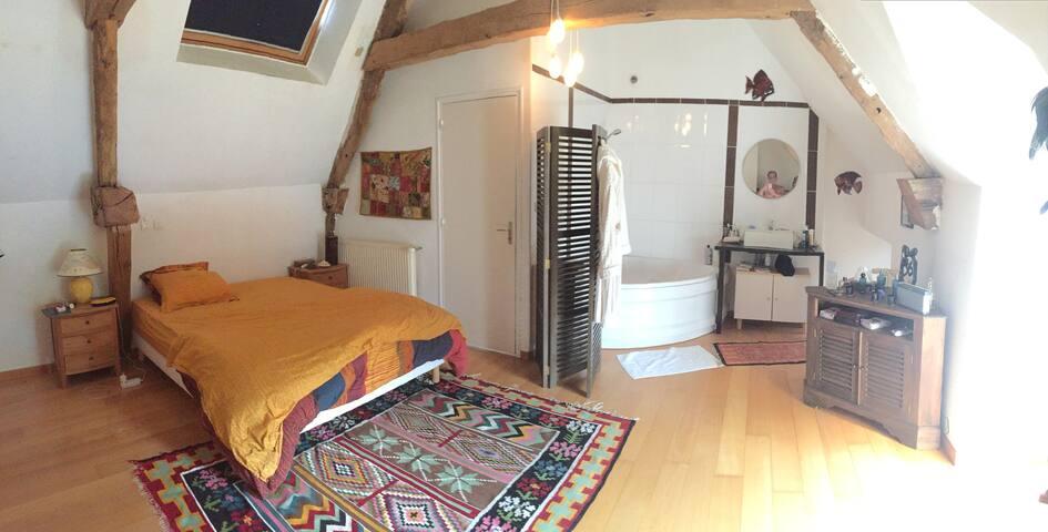 Très agréable maison entre Rennes et St Malo - Québriac - Dům